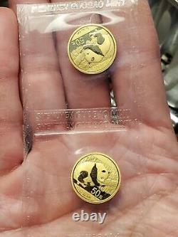 (1) 2016 China 3 Gram Gold Panda coin BU Sealed 1/10 oz