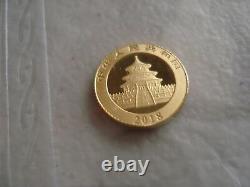 1-bu 2018 1 Gram. 999 Gold, 10 Yuan, Chinese Panda, Sealed In Packet (g-18)