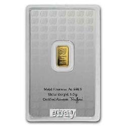 1 gram Gold Bar Holy Land Mint Dove of Peace (Argor-Heraeus) SKU#167448