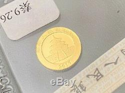 1 gram pure 24k gold chines panda coin 2017 free pnp
