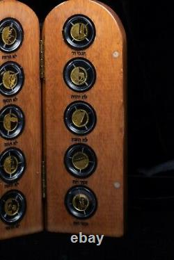 10 Commandments. 9999 Gold Biblical Coin Set Holy Land Set 12.44 grams Tw otx200