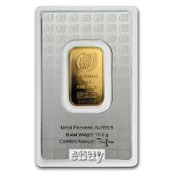 10 gram Gold Bar Holy Land Mint Dove of Peace (Argor-Heraeus) SKU#167446