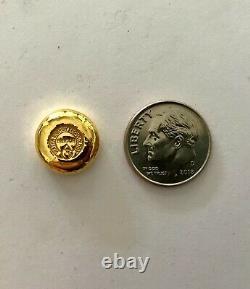 10g GOLD. 9999 Bricor hand poured gold bar ten gram 99.99% pure. STOCK PHOTO