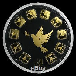 10x1 gram Gold Bar Holy Land Mint Dove of Peace (Argor-Heraeus) SKU#169701