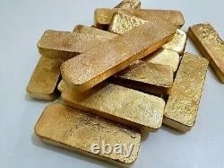 1200 Grams Scrap Gold Bar For Gold Recovery Melted Different Computer Coin Pins