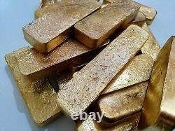 1350 Grams Scrap Gold Bar For Gold Recovery Melted Different Computer Coin Pins