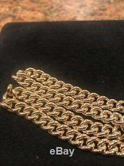 14k CUBAN LINK CHAIN NECKLACE / ATOCHA COIN PENDANT 17 30 Grams