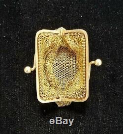 14k Gold Antique Miniature Mesh Coin Purse 30.7 grams