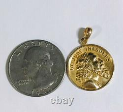 14k Solid Yellow Gold Round Coin Pendant 4Grams(399$)