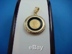 14k Yellow Gold Isle Of Man 1988 Coin Pendant, 6.2 Grams, 23 MM Diameter