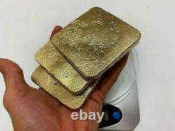 1741 Grams Scrap Gold Bar For Gold Recovery Melted Different Computer Coin Pins