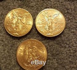 1821-1947 Gold 50 Pesos 1.2057 oz Gold Coin 37.5 grams pure gold