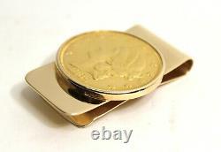 1869 Liberty Double Eagle $20 Gold Coin 14k Money Clip (1x2.25) 54.5-Grams