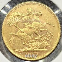 1873 RARE Victoria British Gold Sovereign 8.01 Grams Lustrous Coin