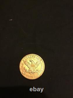 1880 $5 Five Dollar Gold Coin 8.4 Grams Liberty Half Eagle USA 1880