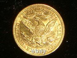 1881 $5 Five Dollar Gold Coin 8.4 Grams Liberty Half Eagle USA 1881