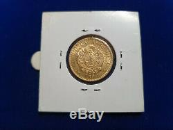 1888 Au+ Gold Argentina Capped Liberty 5 Pesos 8.0645 Grams (argentino) Coin