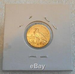 1908 Gold Indian Head Quarter Eagle $2.50 Excellent Jewelry Coin 4.18 Grams