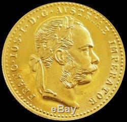 1915 Gold Austria 3.49 Grams 1 Ducat Coin Mint State