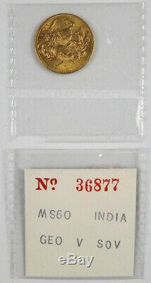 1918-I Gold Full Sovereign, George V Bombay, India Mint 7.988 Grams