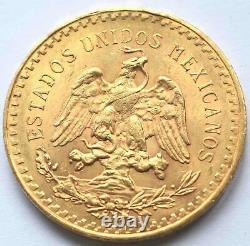 1922 Mexico 50 Pesos Fine Gold Coin 37.5 Grams
