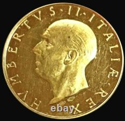 1946 Gold Italy Proof Last King Umberto II 16.9 Gram Institutional Referendum
