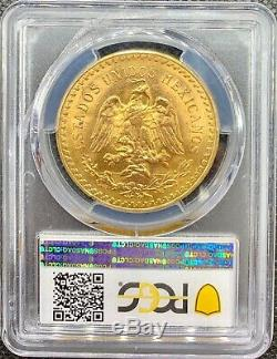 1947 Mexico Gold 50 Peso 37.5 Gram Coin MS65 PCGS KM-481 LUSTROUS Coin