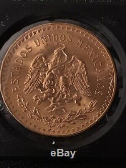 1947 Mexico Gold 50 Pesos BU 1.2057 Oz, 37.5 Grams GOLD Bullion Coin