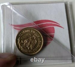 1955 M Cinco Pesos Mexico Gold Coin Estados Unidos Mexicanos 4.2 Grams