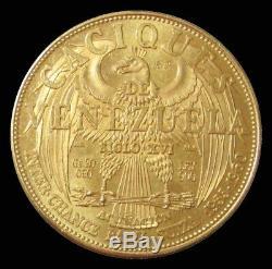 1960 Gold Caciques Murachi Indians Of Venezuela 20 Grams Large 37mm Au