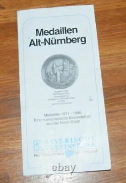 1975 10 Gram. 900 Fine GOLD Nurnberg German GERMANY Medal Coin Medallion RARE