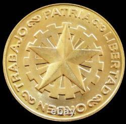 1975 Gold Chile Santiago Mint Construyamos 10.2 Grams Patria Libertado Orden