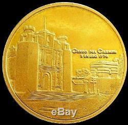 1976 GOLD GUATEMALA 27.8 GRAM CERRITO DEL CARMEN 200th ANNIV CATHOLIC HERMITAGE