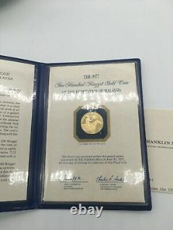 1977 Malaysia 200 Ringgit GOLD Proof Coin 7.22 grams 900/1000 FINE GOLD