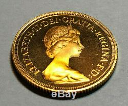 1979 Full Gold Proof Great Britain Sovereign Coin, 7.98 grams. 2544 AGW