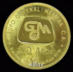1979 Gold Venezuela 19.6 Gram Grupo Covenal Mariara 20 Years Anniv. Arbor Day