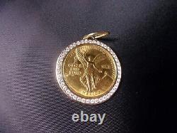 1981 Banco de Mexico 1oz Gold Onza Libertad Bezel 47 Diamonds 2.35ct 44.87grams