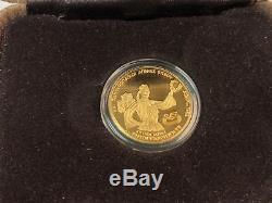 1982 90% Gold 6.45 Gram GREECE 2500 DRACHMAI Pan-European Games Coin Proof Camio