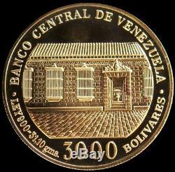 1983 Gold Venezuela 31.1 Grams 3000 Bolivares Simon Bolivar Gem Proof Coin