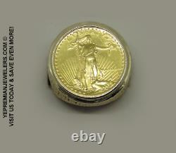 1986 22k Fine Gold 1/4 Oz Us Liberty Coin Ring Estate Piece 24 Grams