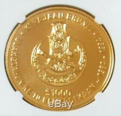 1994 GOLD BRUNEI 500 MINTED 2oz 63 GRAM $1000 NGC MINT STATE 69 INDEPENDENCE