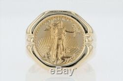 1995 $5 Lady Liberty Coin Ring 14k Yellow Gold Size 8.25 / 11.89 grams