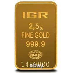 2.5 Gram Istanbul Gold Refinery (IGR) Bar In Assay