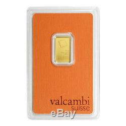 2.5 gram Valcambi Gold Bar