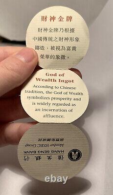 20 Gram Gold Ingot Hang Seng Bank God Of Wealth As Issued With COA