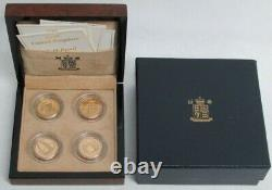 2004-2007 GOLD GREAT BRITAIN PROOF 1 POUND 4 COIN 78.475 GRAMS SET IN BOX /COAs