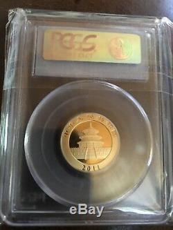 2011 1/4 Ounce (8 Gram) Gold Panda Coin MS 69