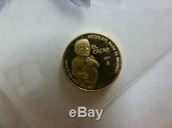 2011 Mexico El Cacao Gold Coin 1.25 gram. 750 Pure