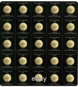 2015 25 X 1 Gram Royal Canadian Mint Maplegram. 9999 Gold Maple Leaf Coin