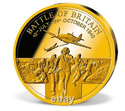 2015 Solid Gold Battle of Britain coin 0.5 grams 11 mm COA Capsule Proof